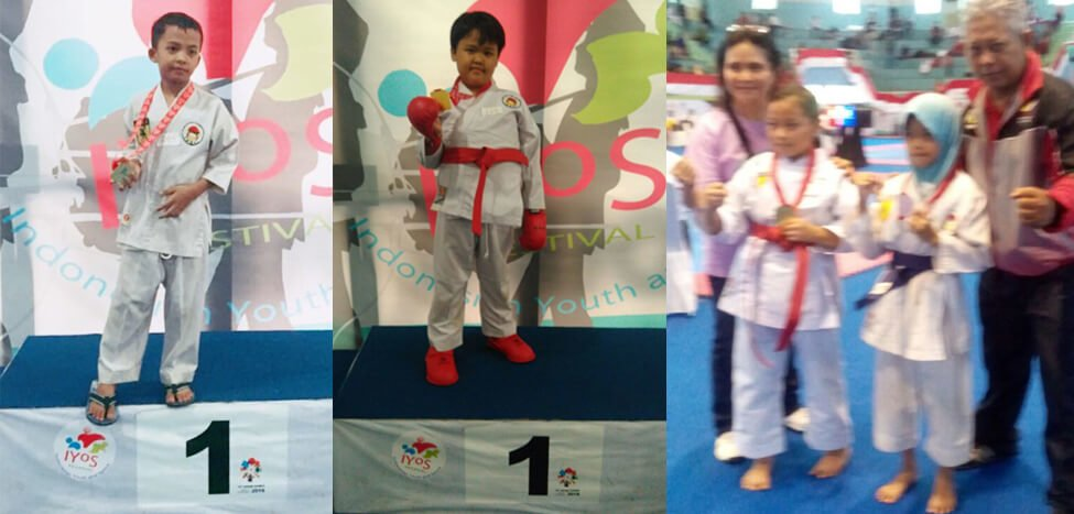 Lima Medali dibawa Pulang Tim Karate SDIT Nurul Fikri di IYOS 2017