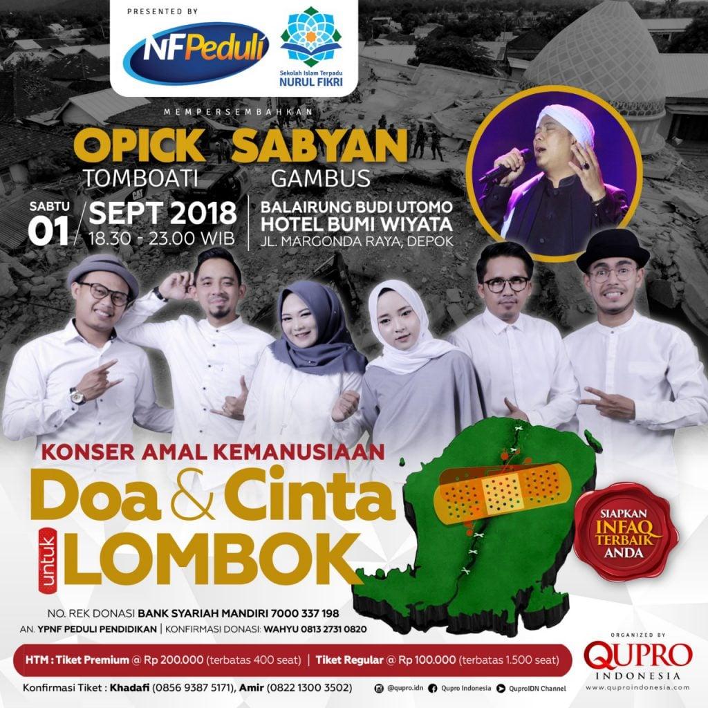 Konser Amal Gempa Lombok Bersama Sabyan Gambus Akan digelar di Bumi Wiyata Depok