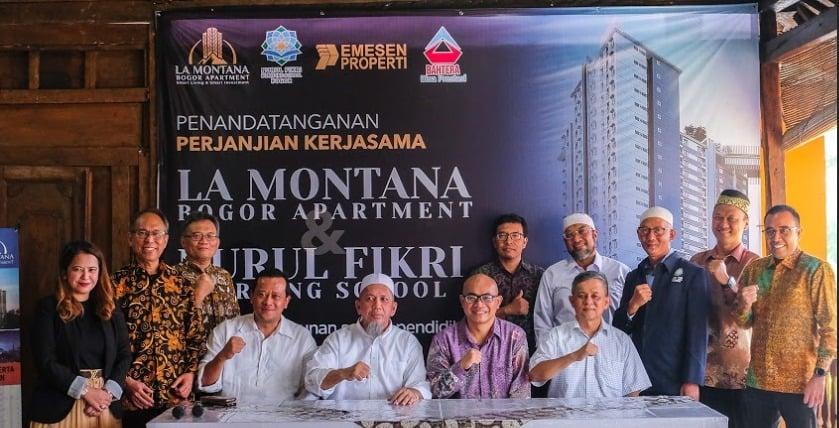 Penandatangan Kerjasama Pembangunan Nurul Fikri Boarding School (NFBS) SMPIT – SMAIT La Montana BNR Bogor