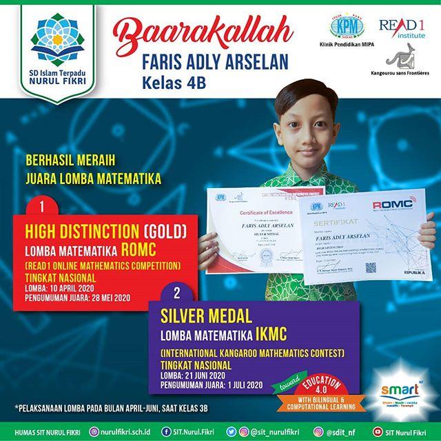 Faris Adly Raih Perak di International Kangaroo Mathematics Contest
