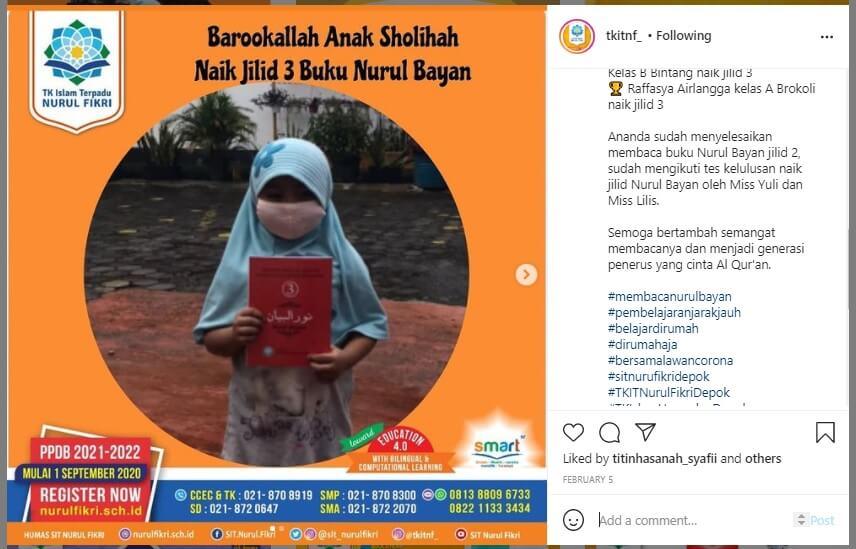 Alhamdulillah, 2 Siswa TK NF Naik Level Nurul Bayan