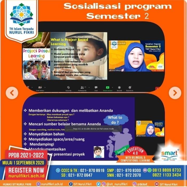 TKIT NF Gelar Sosialiasi Program Semester 2 Pada Orang Tua Siswa