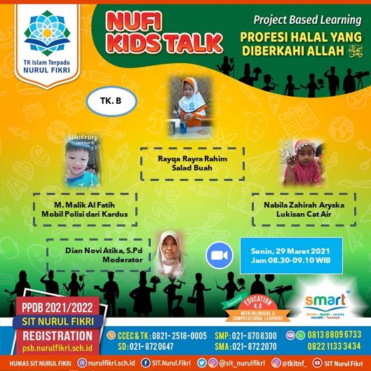 Tema Nufi Kids Talk Kali Ini, Profesi Halal Yang diberkahi Allah